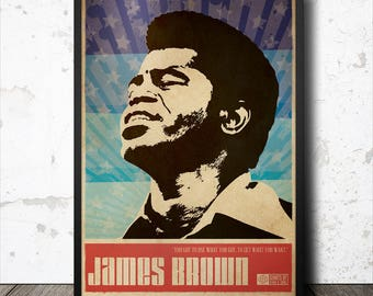 James Brown Soul Funk Art Poster