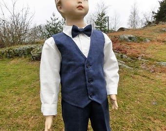 Navy blue ring bearer outfit. Boys navy blue outfit. Toddler boy formal wear. Boys wedding suit. Boys nautical birthday outfit. Boat wedding