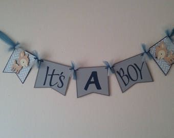 It's a Boy Baby Banner-Deer Baby Boy Banner-Deer Themed Boy Baby Shower- Deer It's A Boy Banner
