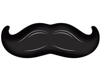 MUSTACHE BALLOON / 1 Mustache Balloon 14x36 / Bachelor Party / Birthday Party / His & Her's Party / Happy Father's Day / Gender Reveal