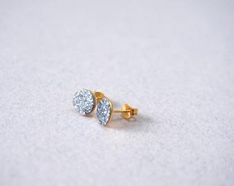 Boucles d'oreilles Puces GALLICA paillettes discrètes et mignonnes