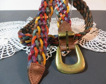 Vintage Multi-Colored Leather Belt