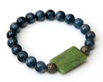 Jade bracelet, hawks eye bracelet, canadian jade, hawks eye jewelry, jade jewelry, hawks eye, blue hawks eye, green jade bracelet, jade