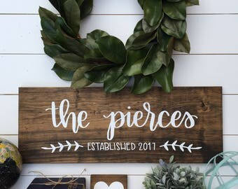 Personalized Last Name Wood Signs