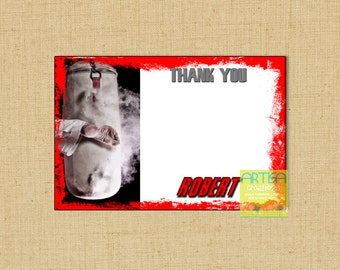 Karate Thank You card, Karate note card, personalized karate note card, MMA thank you card, Kick Thank you card, Martial arts note card