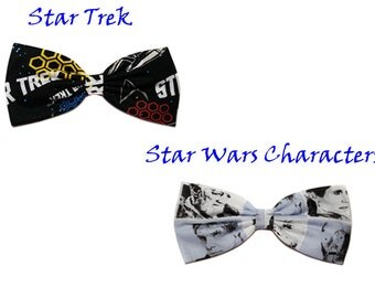 Sci Fi Hair Bows- Star Wars Characters- Clone Trooper- Han Solo-Star Trek- Gift for Her, Sci Fi, Nerdy, Novelty