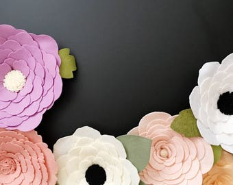 Wallflower || Large Wallflowers || Felt Wallflower || Felt Flower || Large Flower || Felt Flowers || Nursery Decor || Floral Decor