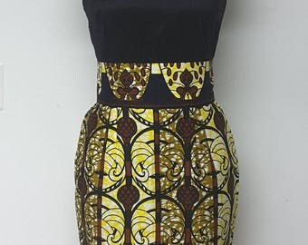 Fully Lined Pencil Skirt with Wide waistband. Womens Clothing. Handmade Clothing. Work Clothes. African Print Skirt.