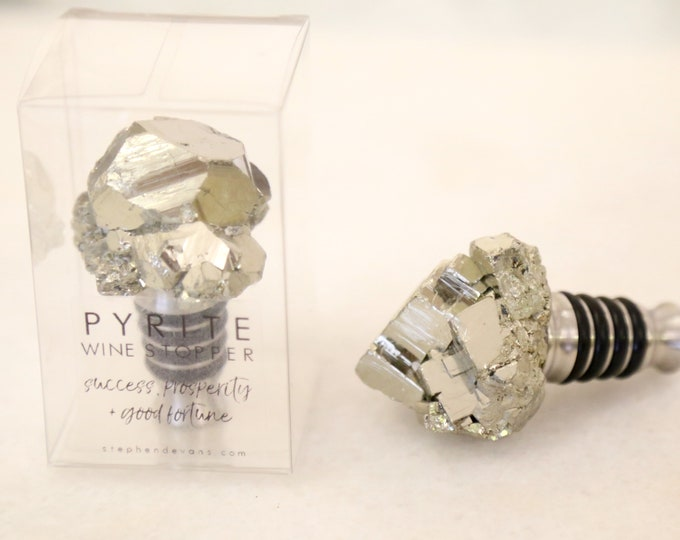 Pyrite Wine Stopper