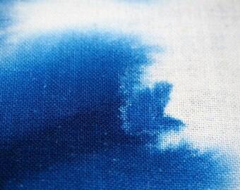 Japanese Old Handmade Indigo Itajime Shibori Cotton Omutsu (cloth diaper) Fabric, Shibori-353