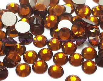144pcs High Quality Crystal Flatback Rhinestones Dark Brown (Mocca 286) Non Hotfix size available 2mm | 3mm | 4mm