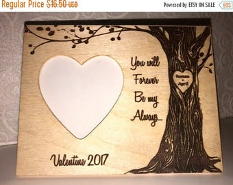 SUMMER SALE Personalized Couple's Frame Valentine Gift With Your Names Engraved