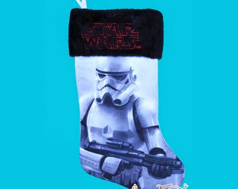 Star Wars StormTrooper Personalized Christmas Stocking- Embroidered Lucasfilms Super Hero, Force, Star Wars Movies, Return of the Jedi