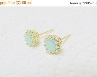 SALE - Druzy studs - Druzy stud earrings - Opal studs, - Gold studs, - Druzy opal - Gold opal studs - Opal post earrings