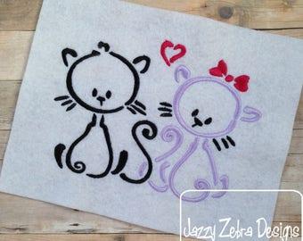 Kitty Love - Valentine Cats - Valentines custom shirt
