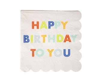 Happy Birthday to You Small Napkins - paper napkins first birthday party