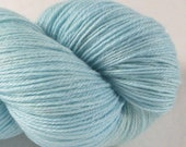 SALE Hand Dyed Fingering Yarn - Shawl For The Best - Summer Sky