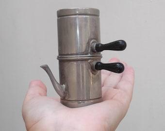 SUMMER SALE Vintage Neapolitan Coffeepot Saltcellar, Salt Shaker, Coffee Maker, Saltern, Coffee Pot, Italy, Naples, Dollhouse, Art Projects