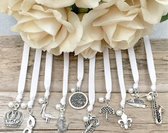 New Orleans Ribbon Cake Pulls // Set of 10 // Wedding // Charms