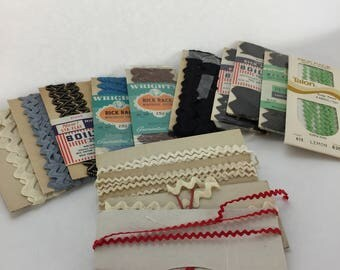 Large colllection of sewing trim, binding tape, rickrack , bias tape