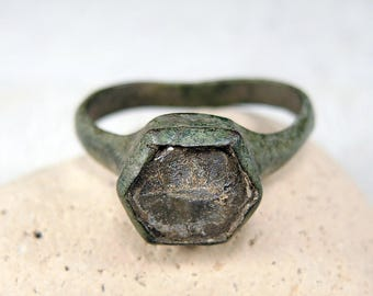 Antique Brass Ring Antique Wedding Ring - j81