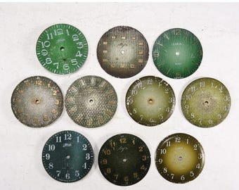 ON SALE Vintage Watch Faces - set of 10 - c115