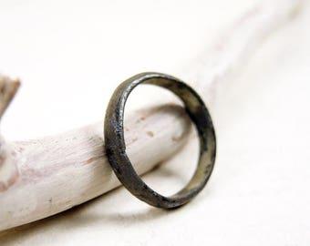 ON SALE Antique Copper Ring Antique Wedding Ring - j24
