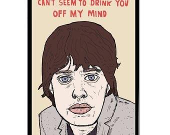 Mick Jagger A3 (42x30cm) Giclee Framed Print