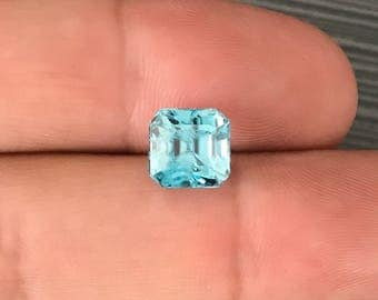 6.74Ct natural blue Zircon