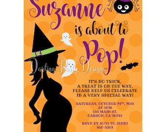 Halloween Baby Shower Invitation