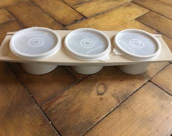 1970's vintage tupperware camping set condiments tea/coffee/sugar