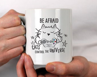 Cats control the Universe Personalised Mug Gift for Birthday Cat Lovers Gift Cat Lover Gift Crazy Cat Lady Gift For Girlfriend Gift for Mum