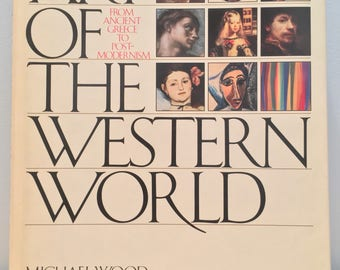 Vintage Coffee Table Book- Art of the Western World