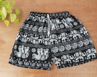 Unisex Shorts Mandala Printed Boho Festival Beach Summer Clothes Ethnic Bohemian Baggy Chic Clothing Spring wear for Men Women In turquoise