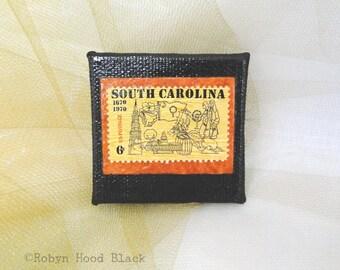South Carolina SC Vintage Postage Stamp Magnet 2 X 2