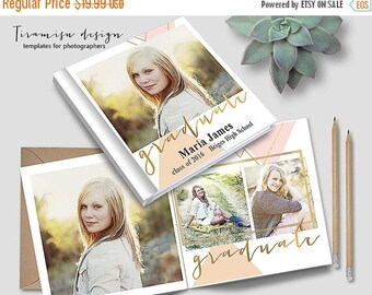 ON SALE 12x12 Senior Album Photoshop Template, Photo Album for Pro Photographers, Photobook Template