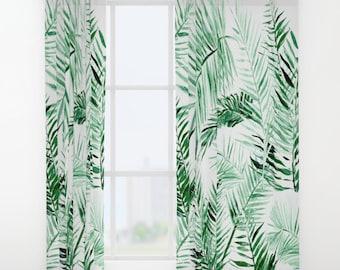 Palm Leaf Curtains, leaf window curtains, palm leaf curtain, window curtains, palm leaves, tropical leaf, tropical leaves, window curtain