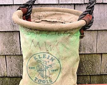 Gardening Tool Carrier Farmhouse Canvas Tool Box Klein Electrician Linesman Bag