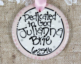 Personalized Baby Dedication Ornament