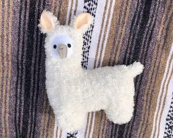 Llama White Furry Plush Doll