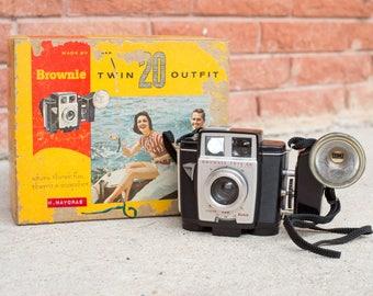 Kodak Brownie Twin 20 Camera with Box