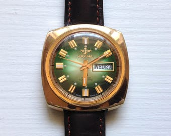 "Swiss Watch ""Jovial"", Vintage watch, Mens Watch, antiquarian watch, Gold plated watch"