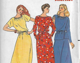 Vintage Butterick 6714 Size 14 Bust 36 Waist 28 Hip 38 Misses' Dress, Top, Belt & Skirt Sewing Pattern Uncut