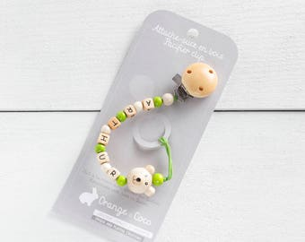 Pacifier clip, beaded pacifier clip, pacifier holder, custom pacifier clip, boy pacifier clip, pacifier chain, unisex, bear pacifier