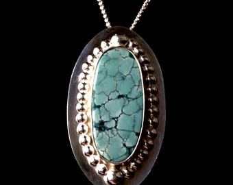 Tibetan Turquoise Sterling Silver Necklace