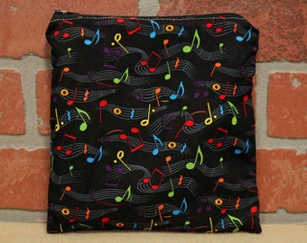 One Sandwich Bag, Music, Reusable Lunch Bags, Waste-Free Lunch, Machine Washable, Sandwich Sacks, item #SS76