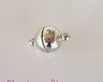 silver plated 8mm magnetic clasp