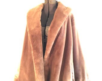 60s buttery soft Sydney Blumentral, Sovereign faux fur / 1960s high fashion