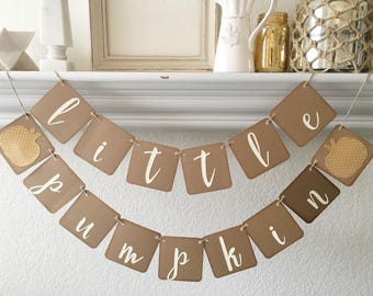 Little pumpkin banner