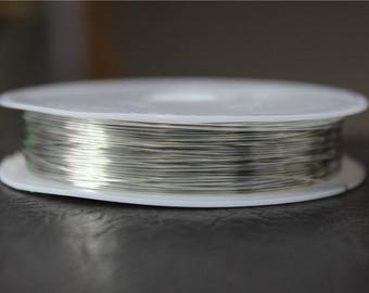 a spool of 0.4 mm silver plated copper wire 13 M